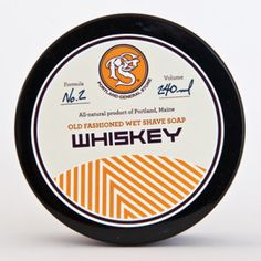 Men's whiskey shave soap