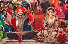 Wedding couple punjabi 60 Ideas for 2019 Sikh Wedding Dress, Indian Wedding Poses, Wedding Sherwani, Indian Wedding Outfits, Indian Bridal, Punjabi Bride, Punjabi Wedding, Desi Wedding, Couple Punjabi