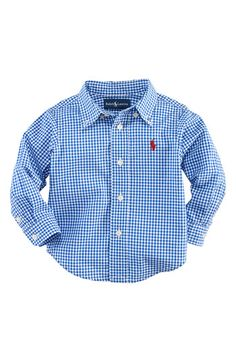 Baby boy blue button down...bought for the boys and cannot wait to see them on!
