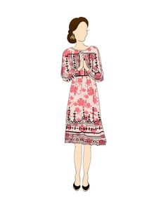 "Duchess of Cambridge Royal Tour INDIA 8.5""x11"" Portrait Print DAY 4 & 7"