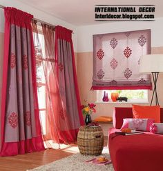 Let's talk about how to turn red curtains in the interior and red window treatments, avoiding fatal errors for it. red curtains and window treatments in the interior living room, bedroom and in in the interior color India Home Decor, Ethnic Home Decor, Home Curtains, Red Curtains, Window Curtains, Indian Bedroom Decor, Terrace Decor, Traditional Family Rooms, Indian Home Interior