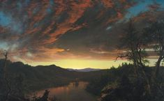 off Hand made oil painting reproduction of Twilight in the Wilderness, one of the most famous paintings by Frederic Edwin Church. Throughout his prolific career, the American Frederic Edwin Church would produce some of the most typical portrayals of. Twilight, Frederic Church, Norway Beach, Rio, Hudson River School, Most Famous Paintings, Popular Paintings, Equador, Cleveland Museum Of Art