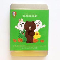 Korea Line Friends Colombin Premium Dark Milk Chocolate gift box #LineFriends