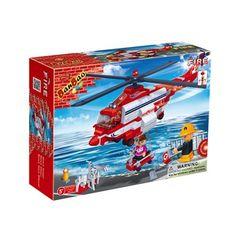 BanBao brandweerhelikopter 8315  Voor reddingsoperaties op zee beschikt de BanBao brandweer over de compleet uitgeruste reddingshelikopter. Eenmaal aangekomen bij de locatie van de noodsituatie wordt het reddingsmandje omlaag gelaten met daarin een reddingsmedewerker.  EUR 11.89  Meer informatie
