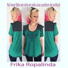 Remera Anina en muchos colores disponibles y talles desde el S al xl #photooftheday #beautiful #fashion#love #frika_ropalinda #ropadediseño #Argentina