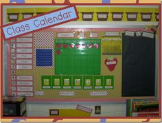 Classroom Calendar - Days in School: Bundle Straws, Post-It Notes with Numbers