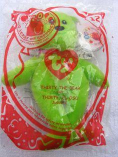 McDonalds Teenie Beanie Babies THIRTY THE BEAR 25 Years of Happiness No 12 NIP