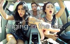 reasons to love being alive: singing in the car. *Things I Like To Do*