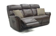 The Palermo 3 Seater in high grade Italian leather finish is a stunning reclining sofa.   Its leather finish is luxurious and pleasant to the touch. Ideal for everyday living. All seats are pocket sprung for optimum comfort.