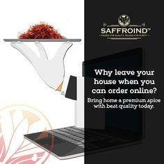 Why leave your house when you can order online? Bring home a premium spice with best quality today. Order saffron strands from Saffroind: http://www.saffroind.com/product/saffrononline-cod-avail/ #saffron #kesar #royal #getitonline  #OrderOnline #doorstepsurprise #onlinestore #onlineshop #onlineshopping #buyonline #buyonlinenow #saffronthreads #spice #spiceworld #spiceforlife #perfectflavor #homedelivered #besttaste #ingredient