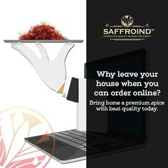 Why leave your house when you can order online? Bring home a premium spice with best quality today. Order saffron strands from Saffroind: http://www.saffroind.com/product/saffrononline-cod-avail/ #saffron #kesar #royal #getitonline  #OrderOnline #doorstepsurprise #onlinestore #onlineshop #onlineshopping #buyonline #buyonlinenow #saffronthreads #spice #spiceworld #spiceforlife #perfectflavor #homedelivered #besttaste #ingredient