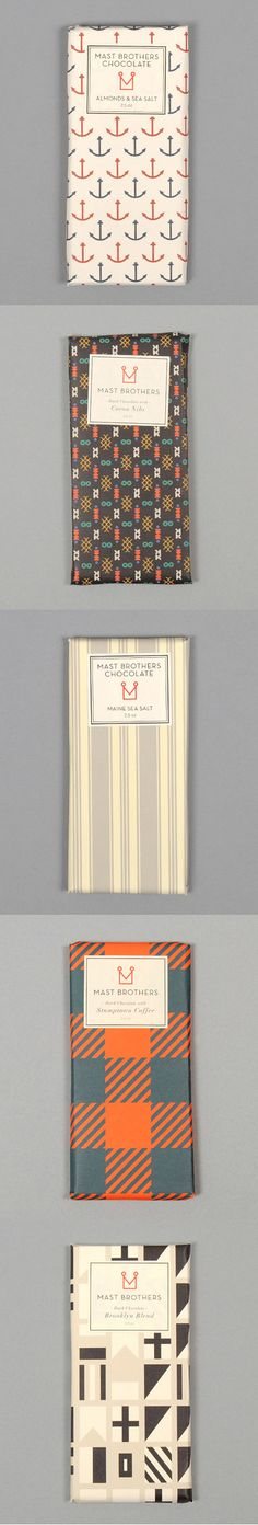 Chocolate from Broklyn by Mast Brothers Chocolate Bar Packaging http://www.hickorees.com/