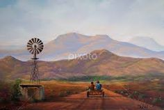 donkey cart and windmill Canvas Paintings, Landscape Paintings, Canvas Art, Pastel Drawing, Painting & Drawing, Fabric Paint Designs, South African Artists, Country Art, Windmills