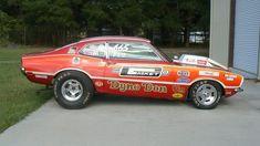 1970 Ford Maverick 427 SOHC Dyno Don Nicholson Pro Stock Car presented as lot at Kissimmee, FL 2012 - Nhra Drag Racing, Auto Racing, Mercury Cars, Ford Maverick, Old Race Cars, Vintage Race Car, Vintage Auto, Drag Cars, Car Humor