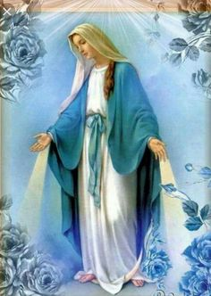 Because virgin mary is the mother of jesus, and had the son of god, she is deemed very powerful. A famous religious figure many worship. Blessed Mother Mary, Blessed Virgin Mary, Mother And Father, Catholic Pictures, Jesus Pictures, Lady Madonna, Madonna And Child, Happy Birthday Mama Mary, Verge