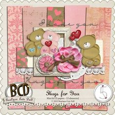 Hugs For You mini kit freebie from Boutique Cute Dolls
