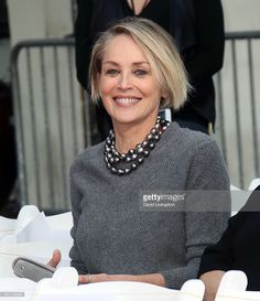 Actress Sharon Stone attends the Jeff Bridges Hand and Footprint Ceremony at TCL Chinese 6 Theatres on January 6, 2017 in Hollywood, California.