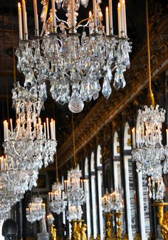 Chandeliers in the Hall of Mirrors  by Leah Marie Brown (copyright, please attribute)