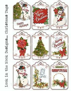 Christmas Gift Tags Printable, Free Printable Tags, Christmas Labels, Christmas Graphics, Christmas Printables, Christmas Topper, Christmas Art, Christmas Projects, Christmas Holidays