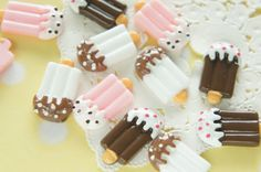 9 pcs Ice Pop Candy Cabochon 13mm 23mm CD668 by misssapporo
