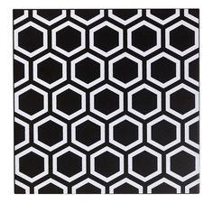 Décor Astuce hexagone noir noir n°0, l.20 x L.20 cm #leroymerlin #carrelage #blackandwhite #carreaudeciment #ideedeco #madecoamoi