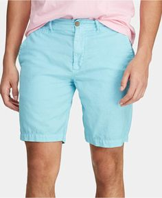 Polo Ralph Lauren Men's Straight-fit Linen Cotton Chino Shorts In Blue Plus Size Activewear, Chino Shorts, Baby Clothes Shops, Short Outfits, Polo Ralph Lauren, Box Packaging, Packaging Design, Grimm Tales