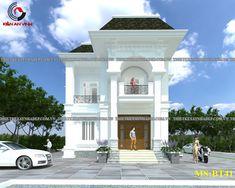 Mẫu thiết kế biệt thự bán cổ điển 2 tầng đẹp kiêu sa tại Tân An Architectural House Plans, House Design, Architecture, House Styles, Homes, Home Decor, Proposals, Arquitetura, Houses