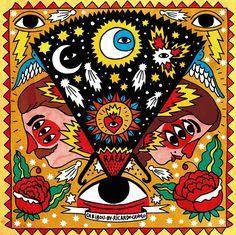 Raen Colaboración Óptica Caribou by Ricardo Cavolo Kunst Inspo, Art Inspo, Psychedelic Art, Psychedelic Pattern, Art And Illustration, Arte Dope, Frida Art, Hippie Art, New Art