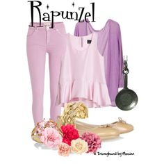 """Disneybounding Rapunzel"" by callmemasian on Polyvore! check out her fashion blog at http://styledbymasian.tumblr.com!"