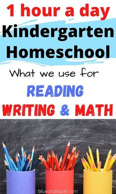 See exactly what we used for reading, writing, and math in our kindergarten homeschool! If you are wondering how much time kindergarten should take, see how we finished book work in under an hour a day and what was included. I share our 4 day a week homeschool schedule, what we studied each day, and how to make an easy kindergarten routine. #blueandhazel #kindergarten #homeschooling #homeschoolcurriculum #homeschool Kindergarten Routines, Homeschool Kindergarten, Homeschool Curriculum, Homeschooling Resources, Creative Teaching, Learning Activities, Planer, Blog, Learn Math