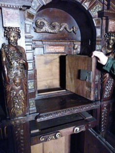 The Interior of the Spice Cabinet at Hardwick Hall  A gift from Mary Queen of Scots to Bess