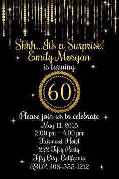 Invitación de cumpleaños 60 60.o fiesta de cumpleaños fiesta