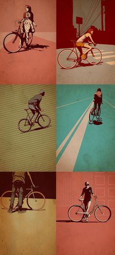 colours and perspectives... Bike illustrations by tumblr artist Adams Carvalho.