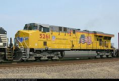 Locomotives: UP 5261 (AC45CCTE) (GE ES44AC ????) Date: 7/2/2006Location: Columbia, IL (Collection Of:   Keith B)