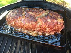 Fall Weather means: Big Green Egg Meatloaf - http://www.greeneggblog.com/big-green-egg-meatloaf/