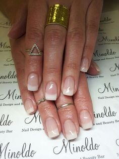 Softer french gel nails. These are gel nails not acrylic. #gelnails #softfrench   #@minoldonail