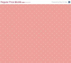 Petite White Fleur Spot on Pink Shabby by WallpaperYourWorld
