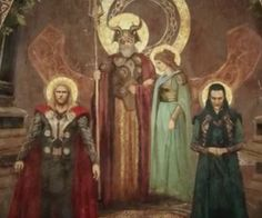 "I just love this. I mean, LOOK at Loki. He's all ""Tee-hee-hee, I'm upta no good!"" And he has a halo. A HALO. Man, that painter must have had SOME sense of humor. Literally, this is one of the best parts in this movie."