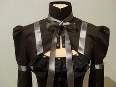 Victorian black and gray shrug by blackmirrordesign on Etsy