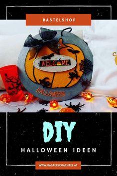 Ist euer Zuhause schon fit für Halloween? Wir haben noch ein paar Bastelideen für euch, die ganz einfach nachzumachen sind! Halloween Diy, Superhero Logos, Wreaths, Fit, Home Decor, Couple, Ad Home, Simple, Patterns