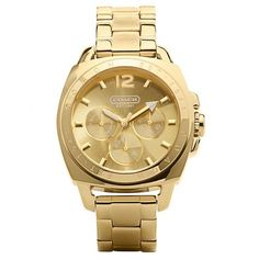 With its classic, gold-plated design, this update of our big, bold Boyfriend style makes an elegant statement and keeps flawless time. Like all Coach watches, …
