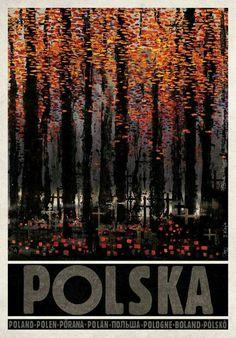 All Saints' Day in Poland Zaduszki, Polska Kaja Ryszard Polish Poster. Polish Posters, Railway Posters, Art Deco Posters, Vintage Travel Posters, Illustrations And Posters, Art Images, Photo Art, Street Art, Illustration Art