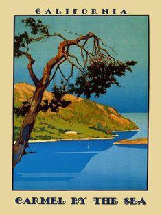 Vintage travel poster: Carmel by The Sea, California | eBay