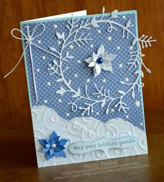 MAY YOUR HOLIDAYS SPARKLE... MADE WITH POPPY STAMPS!!!!! DIE CUTS AND CLING STAMPS :)