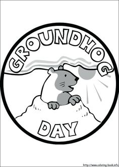 10 Best Groundhog Day Coloring Page images in 2013