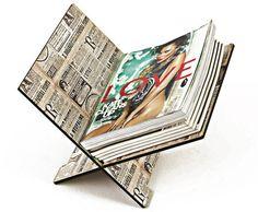 Revisteiro Jornal Francês - StickDecor   Decoração Criativa