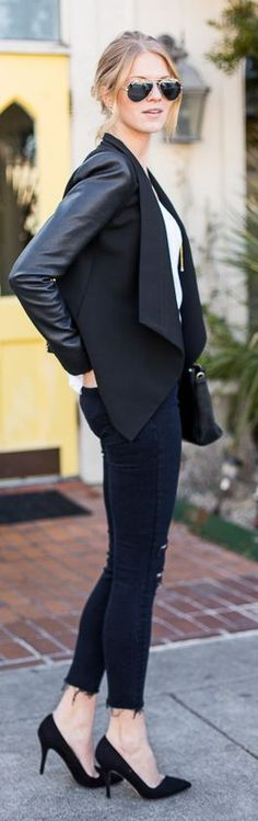 Black And White Casual Tux Outfit by A Piece Of Toast