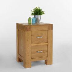 Santana Blonde Solid Oak Bedside Cabinet -  - Bedside Table - Ametis - Space & Shape - 1