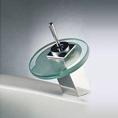 Color Changing LED Waterfall Bathroom Sink Basin Faucet Tap (Round Spout),Torneira Para De Banheiro Modocomando #Affiliate