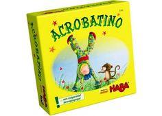 coöperatief bewegingsspel 'Acrobatino' Haba   kinderen-shop Kleine Zebra